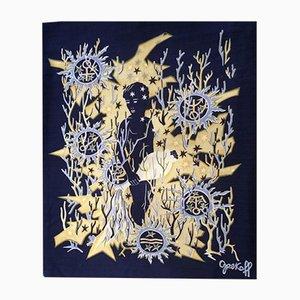 Arazzo Aquarius Mid-Century di Élie Grekoff per Tanit, anni '50