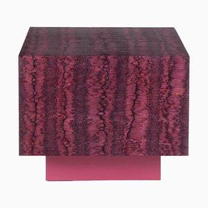 Table Osis Cube Rouge en Bois Laqué par LLOT LLOV