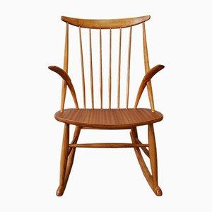 Model IW3 Rocking Chair by Illum Wikkelsø for Niels Nilersen, 1950s