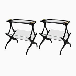 Table or Magazine Rack by Cesare Lacca, 1950s, Set of 2