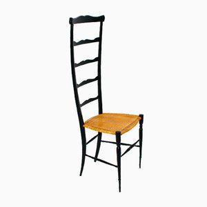 Vintage Italian High Back Ladder Chair from Chiavari, 1940s