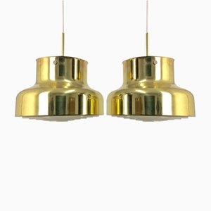 Brass Bumling Ceiling Lamps by Anders Pehrson for Ateljé Lyktan,1970s, Set of 2