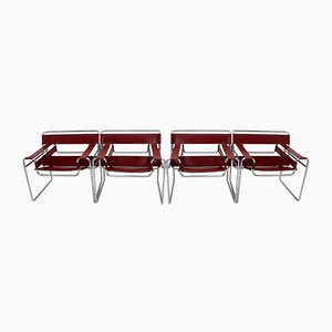 Model B3 Wassily Chairs by Marcel Breuer for Fasem, 1976, Set of 4