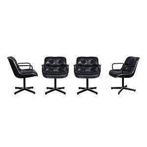 Bürostühle von Charles Pollock für Knoll Inc, 1960er, 4er Set