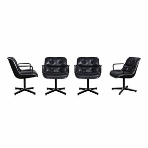 Executive Chairs by Charles Pollock for Knoll Inc, 1960s, Set of 4