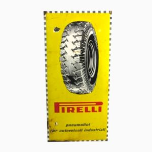 Vintage Enamel Pirelli Sign from Smalteria Perego Trezzo, 1950s
