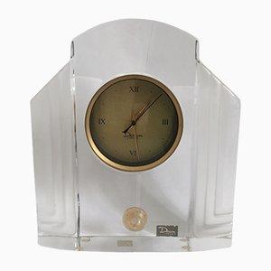 Horloge Art en Verre par Xavier FROISSART pour Daum France, 1986