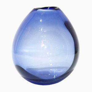 Mid-Century Mouth Blown Glass Vase by Per Lütken for Holmegaard