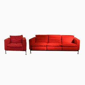 3-Sitzer Sofa mit Sessel von Trix & Robert Haussmann, 1960er
