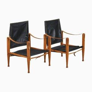 Mid-Century Safari Sessel von Kaare Klint für Rud Rasmussen, 2er Set