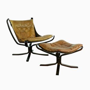 Norwegian Falcon Chair by Sigurd Ressell, 1960s