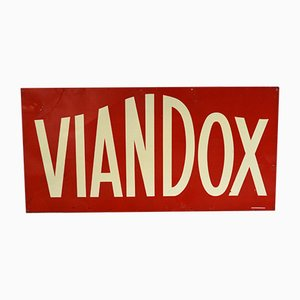 Insegna pubblicitaria Viandox vintage di H. Philippault