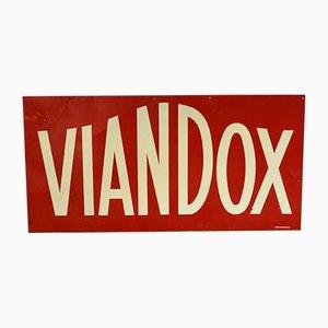 Vintage Viandox Werbeschild von H. Philippault