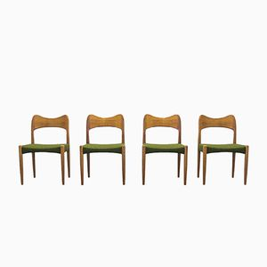 Vintage Dining Chairs by Arne Hovmand Olsen, Set of 4