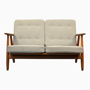 GE-240 Cigar Oak Sofa by Hans J. Wegner for Getama