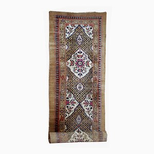 Antique Handmade Persian Camel Hair Runner, 1880s