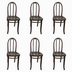 Vintage Bistro Chairs from Thonet, Set of 6