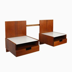 Mid-Century Japanese Series Bedside Tables by Cees Braakman for Pastoe Ums, Set of 2