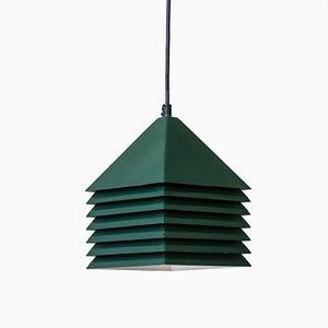 Swedish Forest Green Metal Pendant Lamp by Hans-Agne Jakobsson, 1960s