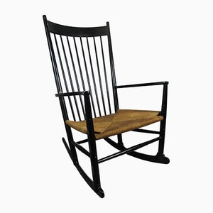 Vintage J16 Rocking Chair by Hans J. Wegner for FDB