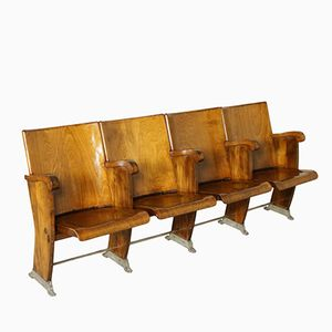 Cinema Chairs with Folding Seats in Beech and Poplar, 1960s