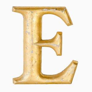 Vintage Golden Letter E