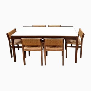 Vintage Dining Table by Cees Braakman for Pastoe with 7 Chairs by Martin Visser for 't Spectrum