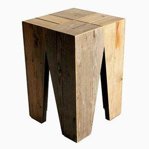 Old Wood Stool by Marco Caliandro