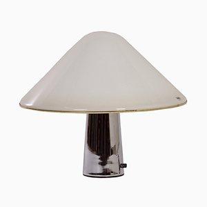 Weiße Mushroom Lampe von Guzzini, 1970er