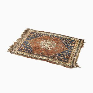 Antique Persian Hand-Woven Shiraz Carpet, 1880s