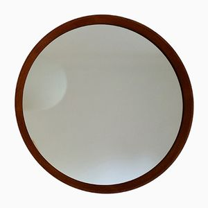Round Teak Mirror with Exposed Joints from Rowley Designs, 1960s
