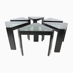 Geometric Stackable Nesting Tables by Porada Arredi, 1970s