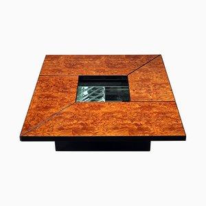 Vintage Coffee Table in Burr Elm by Paul Michel