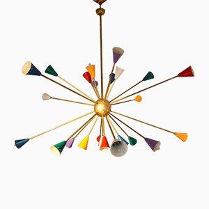 24-Armiger Vintage Sputnik Kronleuchter von Stilnovo