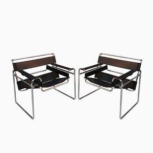 Vintage Wassily B3 Sessel von Marcel Breuer für Knoll, 1927, 2er Set