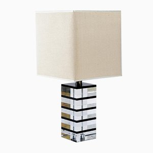 Mid-Century Lucite Table Lamp by Botta