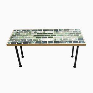 Handmade Flower Table with Tiles, 1960s