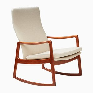 Mid-Century FD-160 Rocking Chair in Teak by Ole Wanscher for France & Søn
