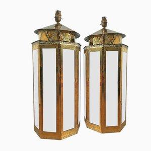 Socles de Lampe Recouverts de Laiton par Rodolfo Dubarry pour Roche Bobois, 1970s