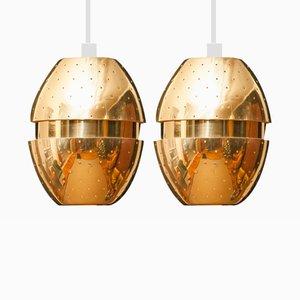 Brass Pendants by Hans-Ange Jakobsson, 1950s, Set of 2
