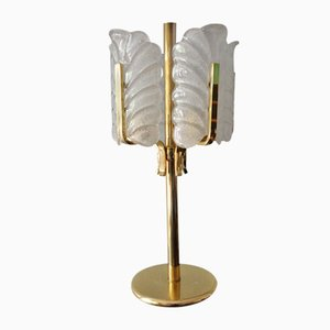 Swedish Acanthus Leaf Table Lamp by Carl Fagerlund for Orrefors, 1950s