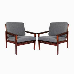 Vintage Rosewood Capella Lounge Chairs by Illum Wikkelsø, Set of 2
