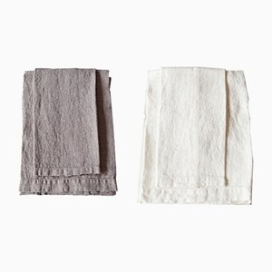 Linen Bath Towels by Once Milano, Set of 2