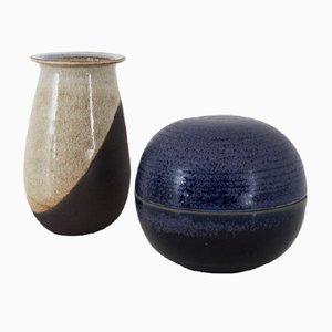 Kleine Vintage Keramikgefäße von Nanni Valentini für Ceramiche Arcore, 1970er, 2er Set