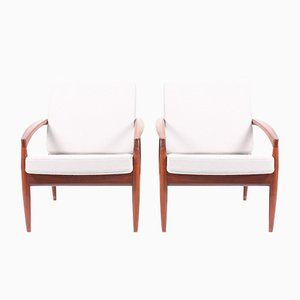 Mid-Century Lounge Chairs by Kai Kristiansen for Magnus Olesen, Set of 2