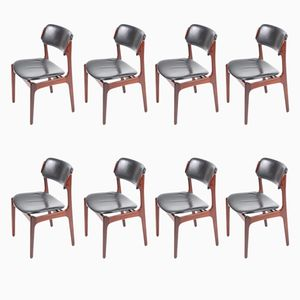 Rosewood Dining Chairs by Erik Buck, 1960s, Set of 8