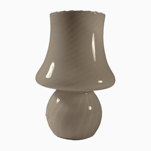 Pilzförmige Tischlampe mit Zweistreifigem Muster aus Murano-Glas, 1960er