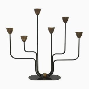 Swedish Modernist Metal Candleholder by Ystad Metal, 1960s