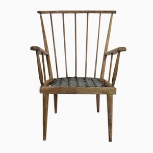 Mid-Century French Wooden Armchair, 1960s