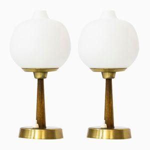 Tischlampen von Hans Bergström für Ateljé Lyktan, 1950er, 2er Set